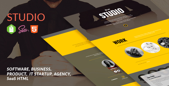 Software, Business, Product, IT Startup, Agency, SaaS Html - Studio