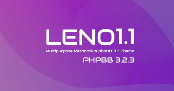 Leno - Multipurpose Responsive phpBB 3.2.3 Theme