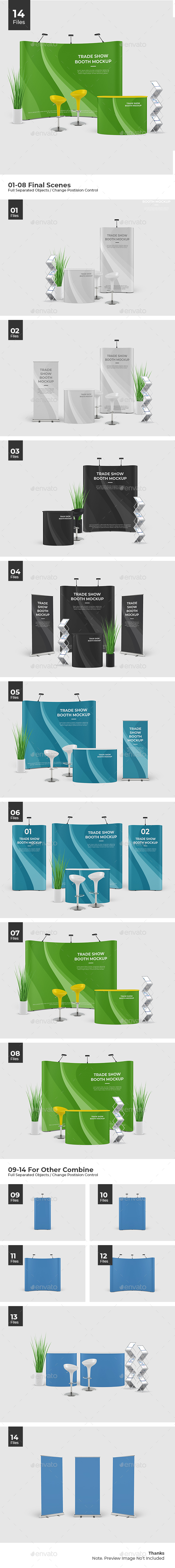 Event Stand / Trade Show Booth Mockup / Pop Up Stand - Signage Print