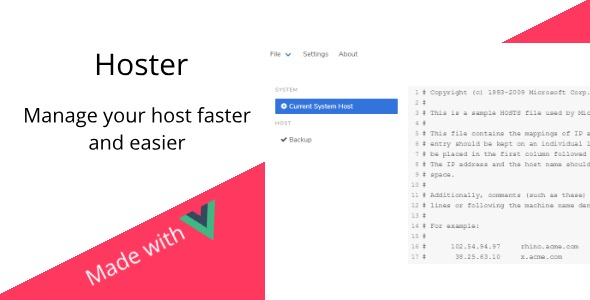 Hoster - Manage your hosts file faster and easier