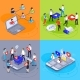 Social Media Isometric Concept Digital Marketing - GraphicRiver Item for Sale