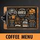 Coffee Menu Template - GraphicRiver Item for Sale
