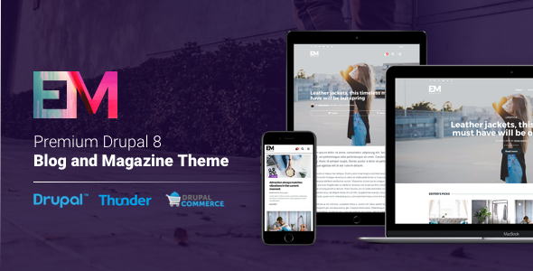 EM - Blog & Magazine Drupal Theme - Blog / Magazine Drupal