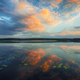 Dramatic sunset over the lake. - PhotoDune Item for Sale