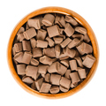 Chocolate chunks in wooden bowl over white - PhotoDune Item for Sale