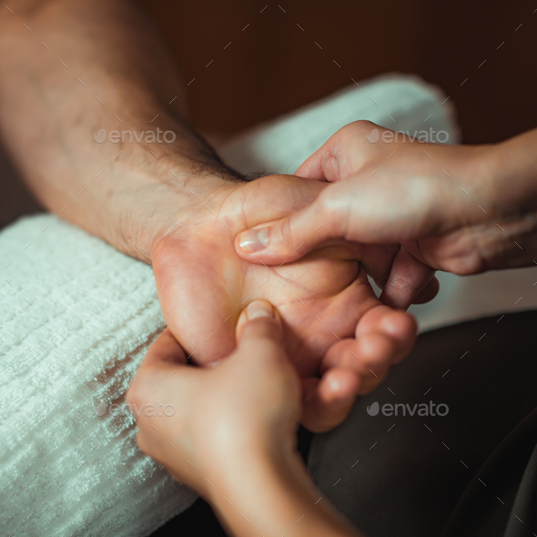 Hand Sports Massage Therapy - Stock Photo - Images