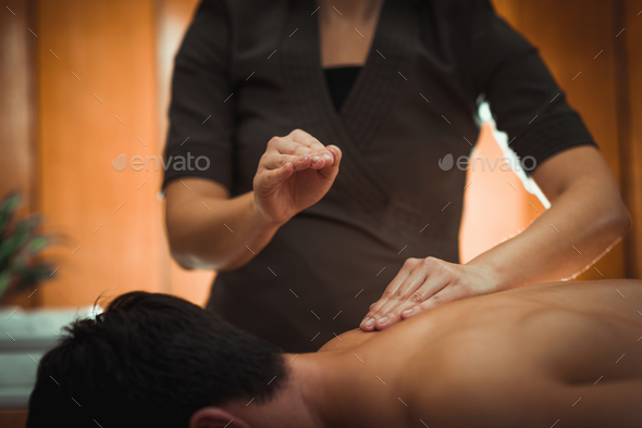 Back Sports Massage Therapy - Stock Photo - Images