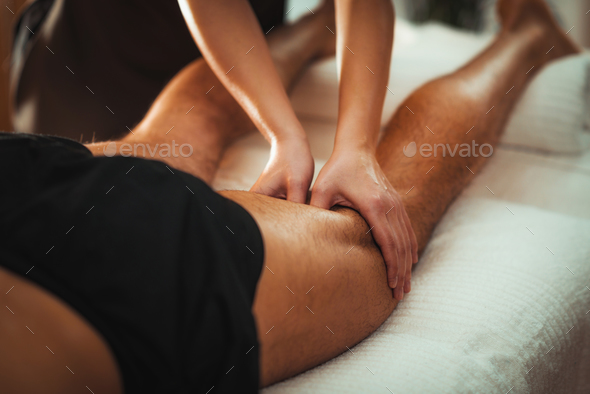Legs Sports Massage Therapy - Stock Photo - Images