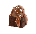 Brownie with chocolate truffle, covered milk chocolate syrup and - PhotoDune Item for Sale