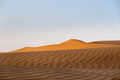desert in sunset, beautiful sand waves and setting sun shone over the dunes - PhotoDune Item for Sale