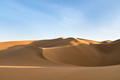 beautiful desert and blue sky, graceful lines and dramatic shadows - PhotoDune Item for Sale