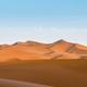 desert dusk landscape, setting sun shone over the dunes, clipping path included - PhotoDune Item for Sale