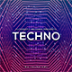 Techno - Music Album Web Cover Template - GraphicRiver Item for Sale