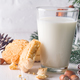 Cookies and milk for Santa Clause on wood background, - PhotoDune Item for Sale
