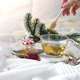 tray with honey and a cup of hot tea in the bed and woman hands , lazy morning, warm winter mood - PhotoDune Item for Sale