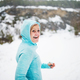 Senior woman runner resting in winter nature. - PhotoDune Item for Sale