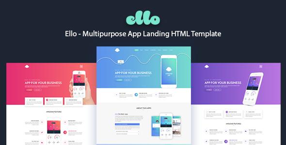 ELLO - Multipurpose App Landing HTML Template