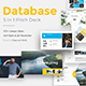 5 in 1 Database Pitch Deck Bundle Keynote Template - GraphicRiver Item for Sale
