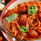 Pasta with tomato sauce and meatballs - PhotoDune Item for Sale