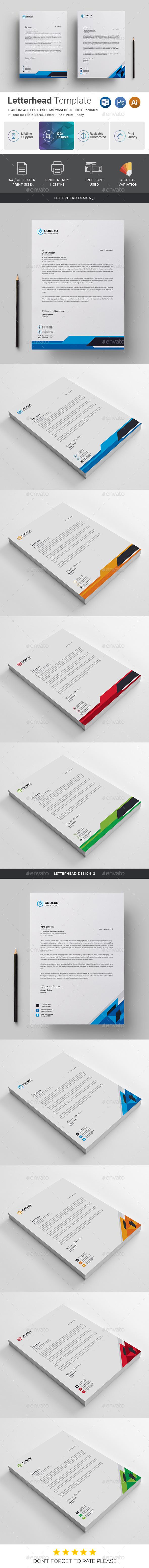 Creative Letterhead Template - Stationery Print Templates
