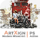 Artxign - Modern Mixed Art | PS Action - GraphicRiver Item for Sale