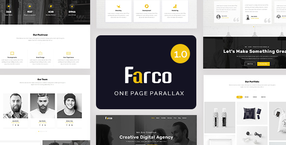 Farco - One Page Parallax