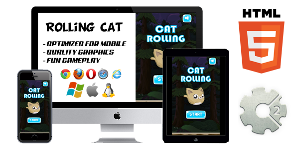 Rolling Cat HTML5 Game (CAPX)
