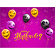 Happy Halloween with Scary Balloons and Confetti - GraphicRiver Item for Sale