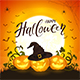 Three Halloween Pumpkin with Hat of Witch - GraphicRiver Item for Sale