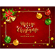 Christmas Balls and Bells on Red Holiday Background - GraphicRiver Item for Sale