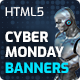 Cyber Monday Sale - Shopping HTML5 Banners with Live Countdown (GWD) - CodeCanyon Item for Sale