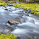 beautiful stream closeup, quiet natural scenery in valley - PhotoDune Item for Sale