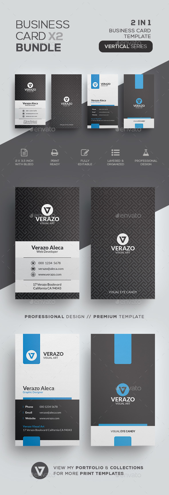 business card templates designs from graphicriver - Template For Business Cards