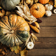 Pumpkins on a wooden background - PhotoDune Item for Sale