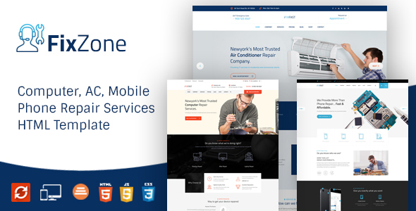 d4b66fe6a14b4b FixZone - Electronics Repair HTML Template by ThemeKalia | ThemeForest
