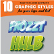 10 Illustrator Graphic Style - Game Title Set Vol.1 - GraphicRiver Item for Sale