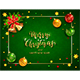 Christmas Balls and Bells on Green Holiday Background - GraphicRiver Item for Sale