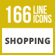 166 Shopping Line Inverted Icons - GraphicRiver Item for Sale