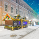 Decorated for Christmas and New Year snow-covered street - PhotoDune Item for Sale