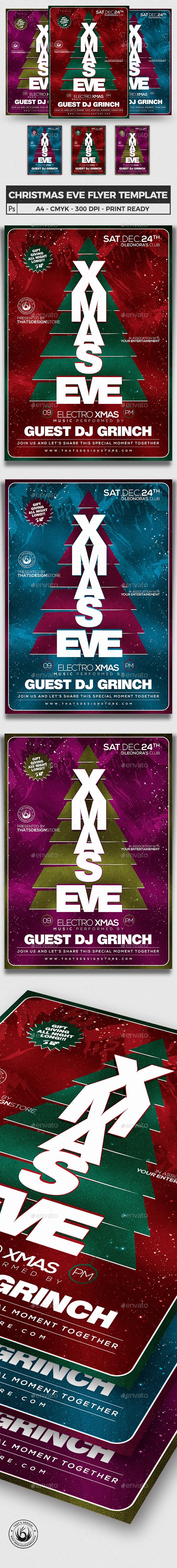 Christmas Eve Flyer Template V6 - Holidays Events