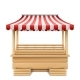 Vector Empty Market Stall with Striped Awning - GraphicRiver Item for Sale