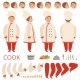 Cook Animation. Chef Characters Body Parts Hands - GraphicRiver Item for Sale