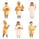 Traditional Cook Characters. Chef at Different - GraphicRiver Item for Sale