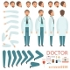 Male Doctor Animation. Hospital Staff Character - GraphicRiver Item for Sale
