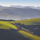Green wavy meadows landscape at dawn in Asturias. Travel Spain - PhotoDune Item for Sale