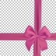 Realistic Pink Bow and Ribbon Isolated - GraphicRiver Item for Sale