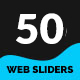 Multipurpose Web Sliders Pack - 50 Designs - GraphicRiver Item for Sale