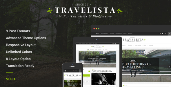 Travelista - Travel Blog Theme - Personal Blog / Magazine