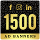 Facebook & Instagram Ad Banners - 1500 Files -  Sale!!! - GraphicRiver Item for Sale