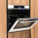 Built in oven in wooden fitted cabinets - PhotoDune Item for Sale